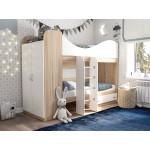Кровать двухъярусная со шкафом