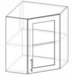 Шкаф угловой со стеклом Ш:550/600 В:720 Г:280