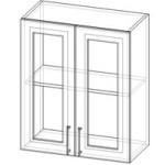 Шкаф со стеклом Ш:600/800 В:720 Г:280